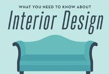 Interior Design 101 / interior design info, how to use colour, layout, trends and styles throughout your home.