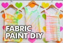 Tulip Fabric Spray Paint/Fabric Paint Designs