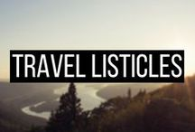 TRAVEL LISTICLES / Travel Listicles, travel list, travel inspiration, travel inspiration wanderlust, top travel destinations, top travel destinations the world, top travel destinations in the us, top travel destinations 2017, top travel destinations 2018, top travel destinations bucket lists, top travel destinations europe