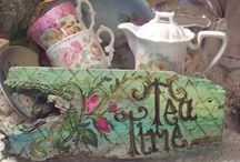 All the tea in china....... / Tea is a ritual in Blighty! Pretty china and porcelain and all things ceramic
