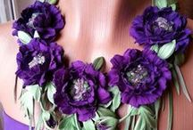 Fabric flowers / Fabric flowers - - inspirations and tutorials