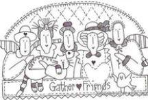 Stitch, red brolly, embroidery, cross stitch