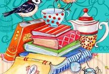 Book - binding, painting, reading