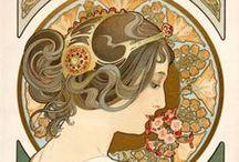 Art nouveau, Mucha, art deco