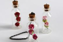 Bottles / Buteleczki / Butelki, buteleczki - zastosowanie Bottles craft - inspirations and tutorials