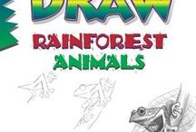 """Draw Rainforest Animals, by Doug DuBosque / Reference material (things to look at and draw) and inspiration for readers of Doug DuBosque's book """"Draw Rainforest Animals."""""""