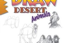 """Draw Desert Animals, by Doug DuBosque / Reference material (things to look at and draw) and inspiration for readers of Doug DuBosque's book """"Draw Desert Animals."""""""