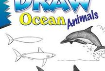 """Draw Ocean Animals, by Doug DuBosque / Reference material (things to look at and draw) and inspiration for readers of Doug DuBosque's book """"Draw Ocean Animals."""""""