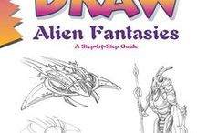 """Draw Alien Fantasies, by Damon J. Reinagle / Reference material (things to look at and draw) and inspiration for readers of Damon J. Reinagle's book """"Draw Alien Fantasies."""""""
