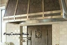 Zinc Range Hoods / Zinc range hoods, vent hoods and stove hoods custom made for kitchen central island and wall.