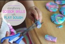 Kindergaten Play Dough Fine Motor Skills / Play dough activities to advance fine motor and sensory development in kindergarten children.