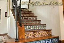 Relief Tiles / Custom made relief tiles handcrafted in Mexico for kitchen backsplash, baseboards and bathroom walls.
