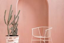 POWDER PINK / How to do colour: powder pink is a wonderful shade, less overtly feminine than baby pink, think pale rose quartz with a smudge of grey. Perfect for bedrooms to bathrooms, and works well with wood, metallics, black, grey and terracotta, as our moodboard shows.