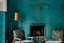 DEEP TEAL / How to do colour: a deep teal blue is our 2017 colour of the year. Why? Because it embodies depth alongside warmth; cool with calm; it's cosily enveloping, yet never overwhelming. Perfect qualities for any home. And this board shows its many shades, and uses, from darker, grey-toned moody hues to the  Lapis Lazuli blue brights end of the spectrum.