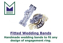 Fitted Wedding Bands - Maker Mends LTD / We can design and make a fitted wedding band to fit any engagement ring. Contact bespoke@makermends.com for prices.