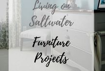 Living on Saltwater Furniture DIY projects / Furniture Refurbish. Refinished Furniture. Furniture DIY projects