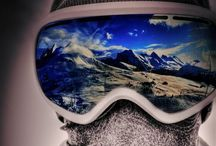 On the mountain / Snow. And our dreams of getting down it quickly and stylishly / by Chris Hoots
