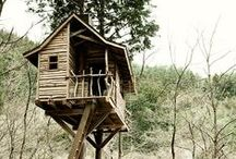 tiny houses & cabins / up in the tree or on the ground – living small and living happy
