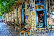 Colors of Athens / frames of locations and time fragments full of city's colors