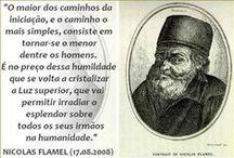 ☤Nicolas Flamel☤☤ / Nicolas Flamel (Pontoise, fl. 1330 – Parigi, 1418) fu uno scrivano pubblico, libraio e alchimista francese.  La sua reputazione come alchimista nacque dopo la sua morte, quando venne collegato alla leggenda della pietra filosofale da una serie di opere alchemiche, pubblicate nel XVII e a lui attribuite, ma considerate apocrife.  NO PIN LIMITS