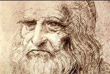 ♕LEONARDO☤︵‿✎ /  Leonardo di ser Piero da Vinci (Vinci, 15 aprile 1452 – Amboise, 2 maggio 1519) è stato un pittore, ingegnere e scienziato italiano. Uomo d'ingegno e talento universale del Rinascimento. Si occupò di architettura e scultura, fu disegnatore, trattatista, scenografo, anatomista, musicista e, in generale, progettista e inventore. È considerato uno dei più grandi geni dell'umanità.  ...NO PIN LIMITS-REPIN AT WILL!!!