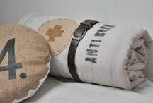 Plaids et bouts de lits / Créations en textiles anciens home made by smile