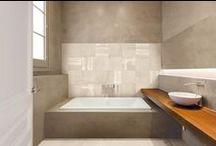 Betonlook tegels / Diverse keramische tegels met betonlook