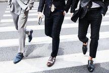 the men: looking smart