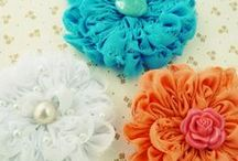Fabric Flowers / DIY fabric flowers photo tutorials PDF Sewing patterns