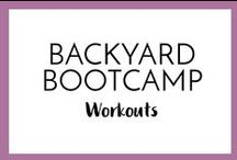 Backyard Boot Camp! / Follow this board for Backyard Boot Camps added every week! Try the 5 minute circuits to develop lean, calorie burning muscle, all while getting doing a great cardio workout! At home workouts for any space.