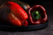 food styling: dark background
