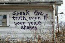 speak the truth / by gloria
