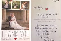 Thank You's x / Thank you cards, messages and gifts from our lovely brides! X