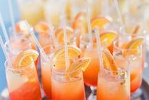 Wedding Reception Hydration Inspiration / What drinks will you serve at a wedding? Sodas, coffees, cocktails- there are so many options to consider when making this paramount decision.