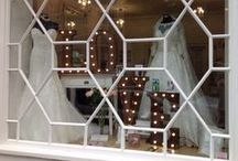 Store Window / What better way to get inspiration than by seeing bridal looks styled in our gorgeous window!