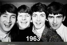 """The Fab Four ♬♬ / The Beatles were an English rock band formed in Liverpool in 1960. Their best-known lineup consisted of John Lennon, Paul McCartney, George Harrison, and Ringo Starr. Rooted in skiffle and 1950s rock and roll, the Beatles later utilized several genres, ranging from pop ballads to psychedelic rock, often incorporating classical and other elements in innovative ways. In the early 1960s, their enormous popularity emerged as """"Beatlemania"""".  / by Patricia Martin"""