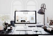 Decor / Sobre decoração, principalmente de home offices, mas também de outros espaços.
