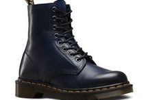 """Dr Martens Unisex Pascal Temperley Navy Leather Boots / """"Our iconic 8-eye Pascal boot silhouette is perfectly executed in premium antiqued leather and finished with our signature welt and air cushioned sole. Our reinvented range takes classic Dr Martens styles and customises them, playing with their history to create something new every season.""""  Dr Martens  - 8 Eye Boot - Classic Heel Loop - Made with Goodyear welt, the upper and sole are heat-sealed and sewn together - Dr. Martens air-cushioned sole offers good abrasion and slip resistance"""