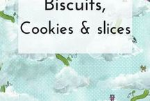 Biscuits (cookies) and slices / I love biscuits! I love eating them, I love making them. I also love slices - they taste just as good but are often quicker to make than biscuits or cookies. I hope you'll love my collection of my top picks of recipes and ideas for baking biscuits, cookies and slices for family, friends and for packing in school or work lunches.