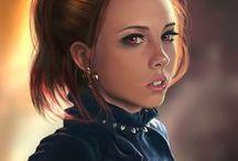 Kobiety twarze rudowłose