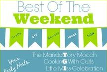 "Best Of The Weekend Party!! / When you party with us, you get pinned!  So don't miss our ""Best Of The Weekend"" party  Fridays at 8PM EST -  bring your best recipes, crafts and DIY projects and show us what you got! http://alittleclaireification.com/category/best-of-the-weekend/ / by A Little CLAIREification"