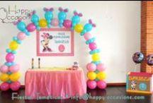 Fiesta Minnie Mouse / Decoración Fiesta Minnie Mouse www.happy-occasions.com https://www.facebook.com/HappyOccasions