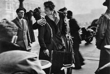Robert Doisneau / Robert Doisneau (14 April 1912 – 1 April 1994) was a French photographer. In the 1930s he used a Leica on the streets of Paris. He and Henri Cartier-Bresson were pioneers of photojournalism. He is renowned for his 1950 image Le baiser de l'hôtel de ville (Kiss by the Town Hall), a photograph of a couple kissing in the busy streets of Paris. / by Paul Keijbets