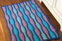 Virkattuja mattoja (crochet rugs)