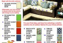 Chic Outdoor Looks for Less / Check out these designer looks our fabrics give you at a fraction of the cost!