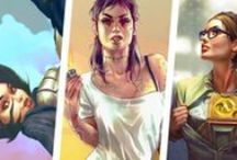 Game-Femarts / title says it all - a bunch of female game-fanarts :)