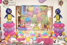 Fiesta Backyardigans / Decoración Fiesta Backyardigans Niña www.happy-occasions.com https://www.facebook.com/happyoccasionsfiestas?ref=hl