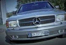 Mercedes-Benz 500 SEC 1987 (C126 / W126) / Mercedes-Benz 500 SEC Baujahr 1987 Lackierung Astralsilber (735), Polsterung Leder Blau (272)