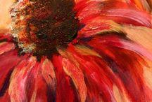 Flower & tree painting