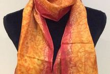 Hand Painted and Printed Scarves